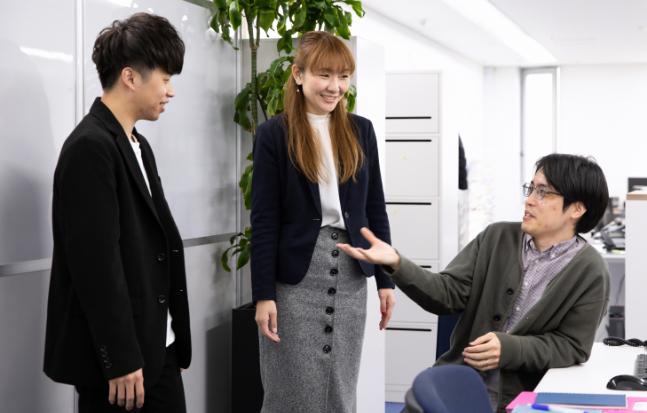 社員同士の仲がよく、話しかけやすい職場。